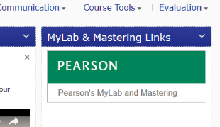 Pearson MyLab and Mastering link located on the course homepage.